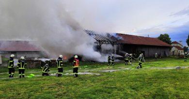 Brand Landwirtschaftliches Objekt in Brunn